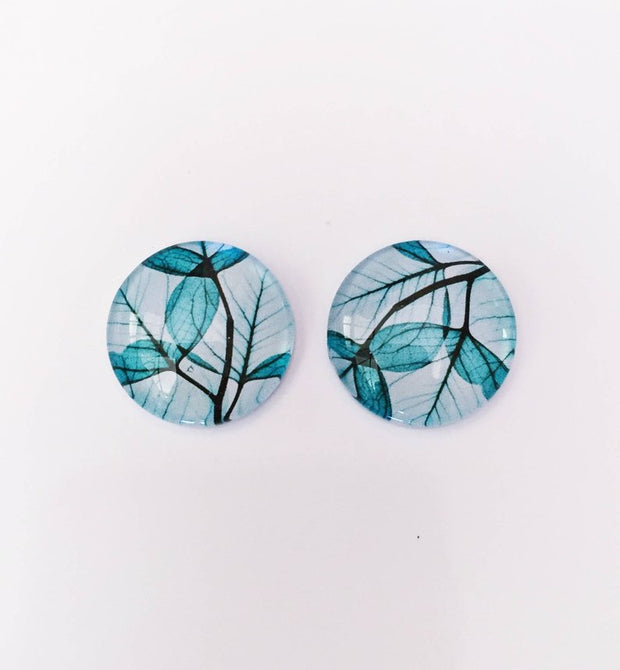 The 'Evangeline' Glass Earring Studs