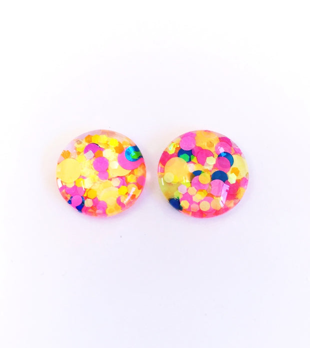 The 'Fruit Tingle' Glitter Glass Earring Studs