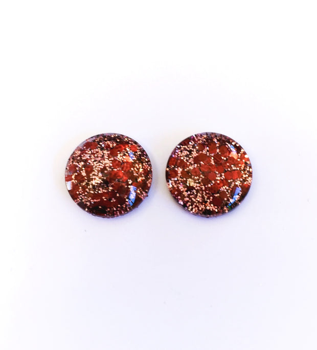 The 'Cowgirl' Glitter Glass Earring Studs