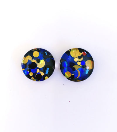 The 'Venus' Glitter Glass Earring Studs