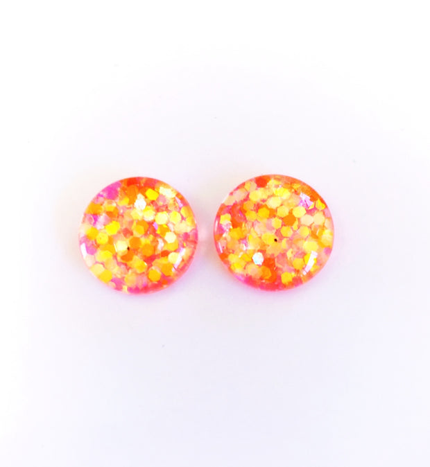 The 'Party Girl' Glitter Glass Earring Studs
