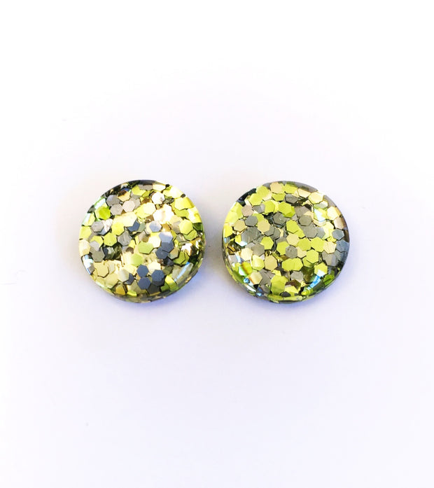 The 'Soul Sister' Glitter Glass Earring Studs