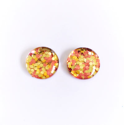 The 'Gold Digger' Glitter Glass Earring Studs