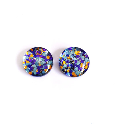 The 'Hummingbird' Glitter Glass Earring Studs