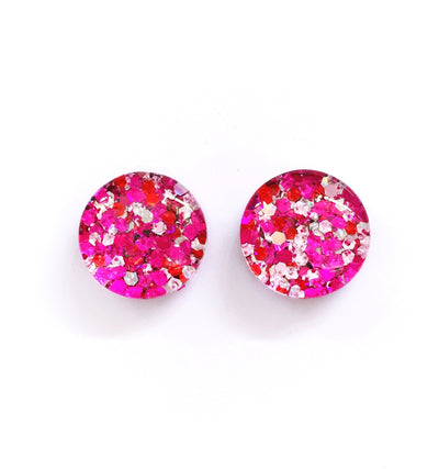 The 'Love Potion' Glitter Glass Earring Studs