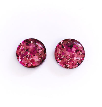 The 'Ramona' Glitter Glass Earring Studs