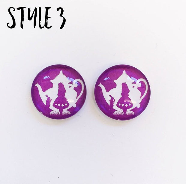 The 'Alice In Wonderland' Glass Earring Studs