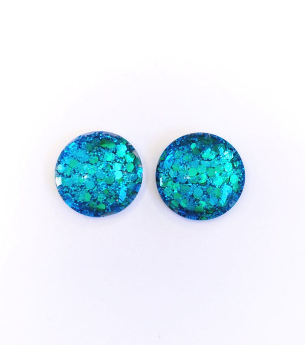 The 'Icon' Glitter Glass Earring Studs