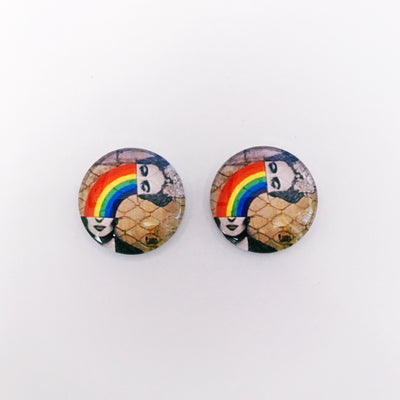 The 'Street Art' Glass Earring Studs