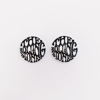The 'Rolling Stones' Glass Earring Studs