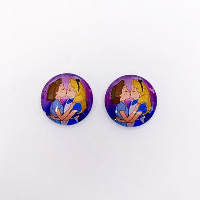 The 'I Kissed A Girl' Glass Earring Studs