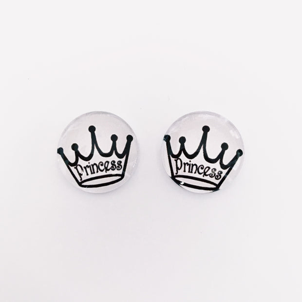 The 'Princess' Glass Earring Studs