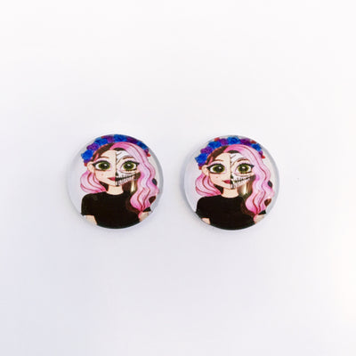 The 'Two-Faced' Glass Earring Studs