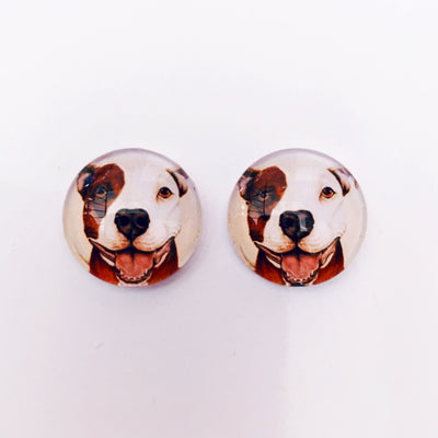 The 'Toby' Glass Earring Studs