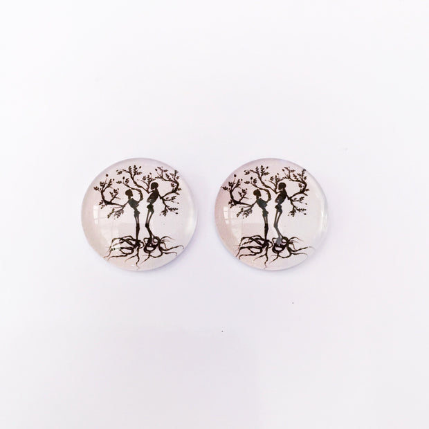 The 'Living Dead' Glass Earring Studs