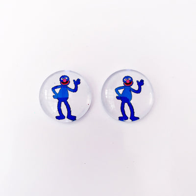 The 'Grover' Glass Earring Studs