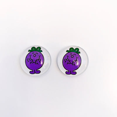 The 'Little Miss Naughty' Glass Earring Studs