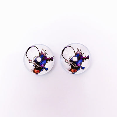 The 'Abyss' Glass Earring Studs