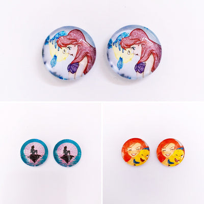 The 'Little Mermaid' Glass Earring Studs