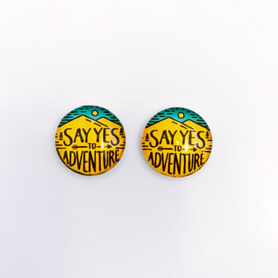 The 'Wild & Free' Glass Earring Studs