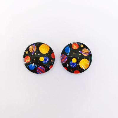 The 'Galaxy' Glass Earring Studs