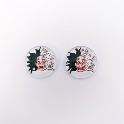 The 'Cruella' Glass Earring Studs