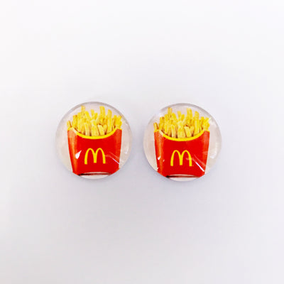 The 'Fries' Glass Earring Studs