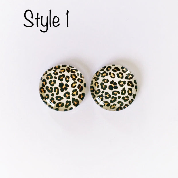 The 'Animalia' Glass Earring Studs