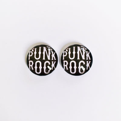The 'Punk Rock' Glass Earring Studs