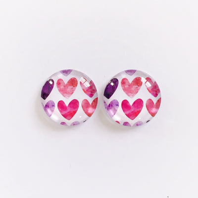 The 'Peyton' Glass Earring Studs
