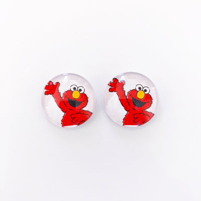 The 'Elmo' Glass Earring Studs