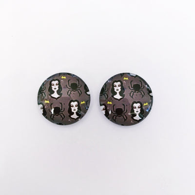 The 'Belladonna' Glass Earring Studs