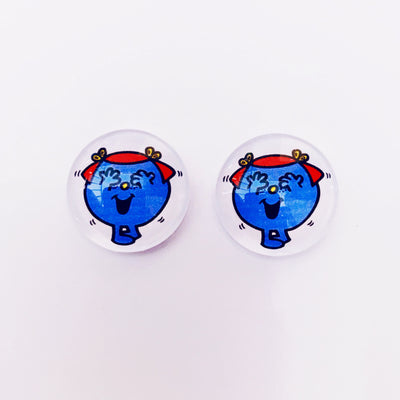 The 'Little Miss Giggles' Glass Earring Studs