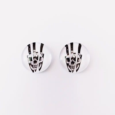 The 'Friday The 13th' Glass Earring Studs