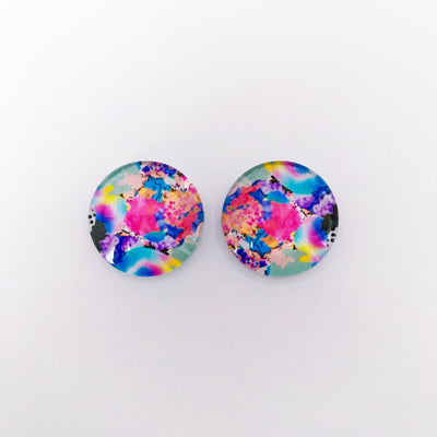 The 'Cora' Glass Earring Studs