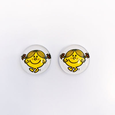 The 'Little Miss Sunshine' Glass Earring Studs
