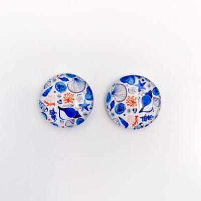 The 'By The Sea' Glass Earring Studs