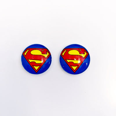 The 'Superman' Glass Earring Studs