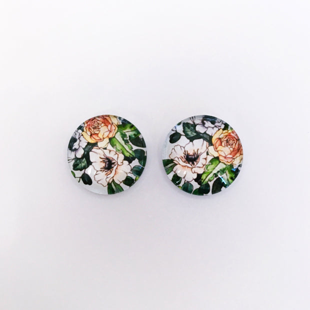 The 'Amy' Glass Earring Studs