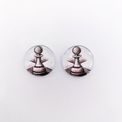 The 'Checkmate' Glass Earring Studs
