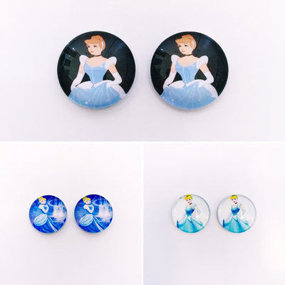 The 'Cinderella' Glass Earring Studs