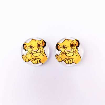 The 'Simba' Glass Earring Studs