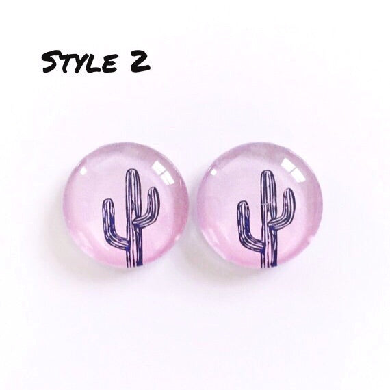 The 'Cactus' Glass Earring Studs