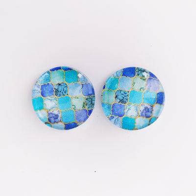 The 'Annabeth' Glass Earring Studs