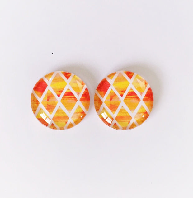 The 'Amber' Glass Earring Studs