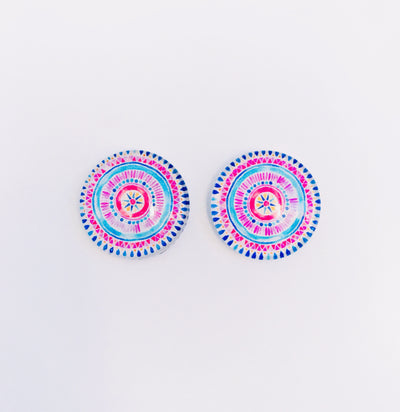 The 'Kylie' Glass Earring Studs