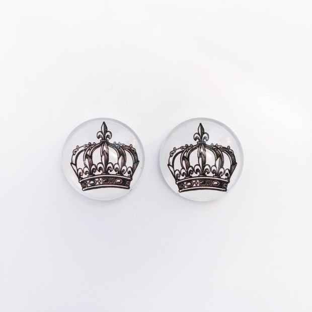 The 'Queen Bee' Glass Earring Studs