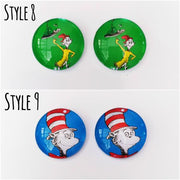 The 'Dr Seuss' Glass Earring Studs