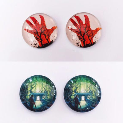 The 'Evil Dead' Glass Earring Studs