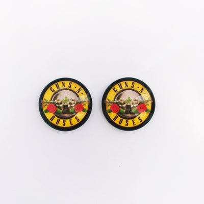 The 'Guns N Roses' Glass Earring Studs